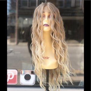 Blonde 27/613 Long Beach Waves Lace Wig 2030 Wig